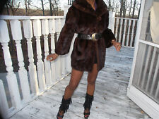 Classy Mr John dk ranch mink Fur coat Bolero Jacket S-M