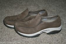 Women's Merrell Primo Seam moc dark taupe loafers Slip-on Shoes - Size: 6