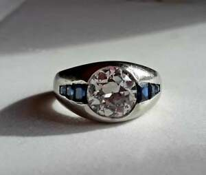 2.25 Ct Diamond Modernist Dome Style Engagement Wedding Band 14K white Gold Over