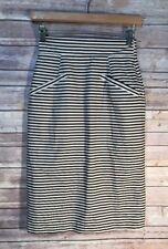 4138272cce Anthropologie Corey Lynn Calter Size: 0 Skirt Black White Stripe Cotton  Pockets