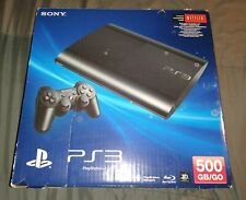 *Box Only* Sony Playstation 3 PS3 Super Slim 500GB Black Console *BOX ONLY*