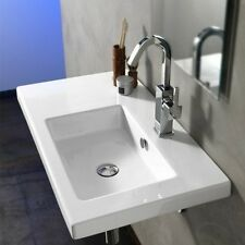 Tecla Teclaco01011-Nohole Co01011-No Hole White Bathroom Sink- Decorative-Wall M