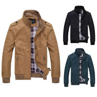 Mens Jacket Summer Lightweight Bomber Coat Casual Outfit Tops Outerwear Bomber