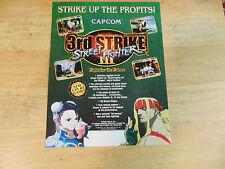 STREET FIGHTER 3 3RD STRIKE CAPCOM CPS 3        ARCADE   GAME  FLYER