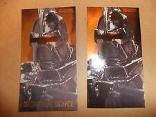 BATTLESTAR GALACTICA DART SET OF 2 CYLON TALL BOY CARDs STANDARD AND GOLD FOIL