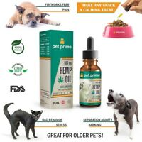 Pet Hemp Oil - Rescue Remedy for Pets - 100% Organic - Dogs & Cats