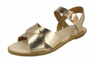 Clarks Willow Gild Leather Slingback Sandals Rose Gold UK Size 8 D Fit (EU 42)