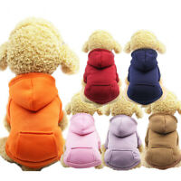 Winter Dog Hoodie Coat Soft Fleece Warm Puppy Clothes Sweatshirt For Small dogs