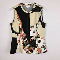 3.1 Phillip Lim For Target Womens M Multi-Color Floral Tank Top Hidden Front Zip
