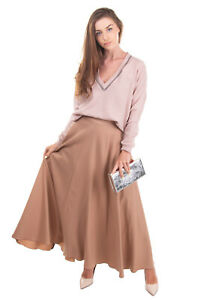 RRP €1100 NINA RICCI Flare Skirt Size 36 / XS Thin Wool Blend Made in France
