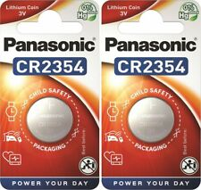 2 x Panasonic® CR2354 3V Lithium Coin Cell Button Battery DL/CR 2354 Expiry 2030