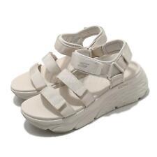 Skechers макс амортизации заманили ультра иди бежевый крем женские сандалии 140218-NAT