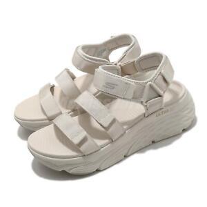 Skechers Max Cushioning-Lured Ultra Go Beige Cream Women Sandal 140218-NAT