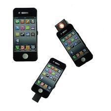 Accendino smartphone nero in plastica anti-vento senza fiamma ricaricabile USB