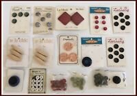Vintage Carded & Bagged Button Lot - Over 75 Buttons! - Unused      (M313)