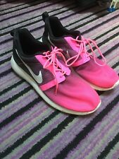 nike girls pink purple black and white trainers size 5.5