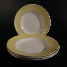 4 assiettes porcelaine art déco Moulin des Loups Orchies Nord France N4642
