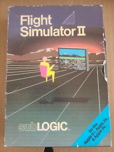 Apple ll, lle, llc Flight Simulator II Computer Game subLOGIC 1986 Complete CIB