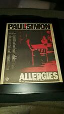 Paul Simon Allergies Hearts And Bones Rare Original Radio Promo Poster Ad Framed