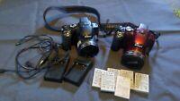 2x Nikon coolpix p510 digital camera + Batteries + chargers bundle 16mp 42x Zoom