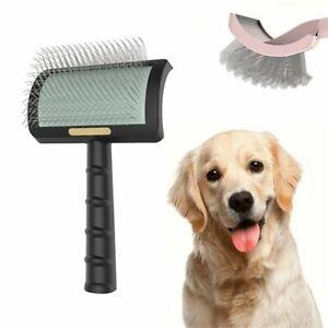 Pet Grooming Comb Shedding Hair Remove Needle Brush Slicker Massage Tool UK