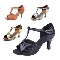 Brand New Women's Ballroom Latin Tango Dance Shoes heeled Salsa 4 Colors 259-S