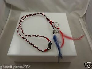 lanyard patriotic feathers key chain 4th of July Red White and Blue keychain