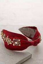 Brand new Namrata Joshipura for Anthropologie red jeweled turban headband