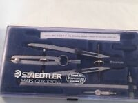Staedtler Mars Quickbow  552N 04 A6 Drawing Instrument Set (used) Original Box