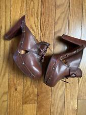 Vintage 1970's 70's Chandlers Leather Studs Rivets Platform Clogs Shoes