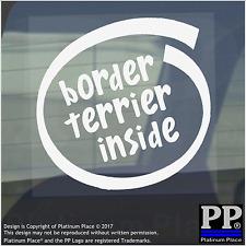 1 x Border Terrier inside-window, Auto, Furgone, autoadesivo, Firmare, Adesivo, CANE, PET, sul bordo,