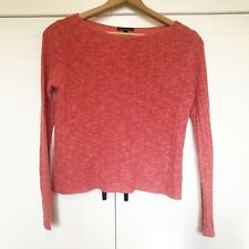 Eileen Fisher Women's Knit Sweater Top Organic Cotton Linen Coral Sz Small