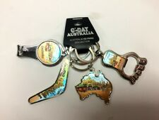 4pc Australia Souvenir Keyring Key Ring Bottle Opener Nail Clip Map Boomerang