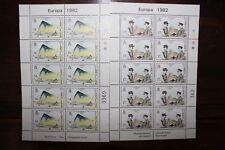 "STAMPS GIBRALTAR 1982 ""EUROPA CEPT"" MNH** BLOCK SET (CAT.3)"