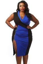 Abito Zip Ballo Spacco Taglie forti Grandi Curvy Formosa Plus Size Dress XXL