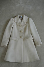 Red Valentino Beige Wool Button Up Striped Jacket Coat Womens Size UK 8