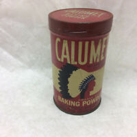 Vintage Tin Can Calumet Baking Powder Can ONLY Medal Lid