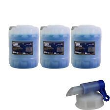 3x 20L Mannol Anticongelante Fresco a Largo Plazo AG11 Azul + Grifo de Vaciado