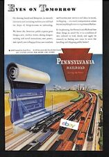 PENNSYLVANIA RAILROAD 1944 EYES OF TOMORROW BLUEPRINT FOR NEW TRAINS AD