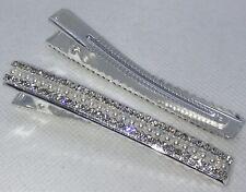 BLING Sparkly Hair Clip XL Crystals Pearls Diamantes Hair Clip Hairpin Slide NEW