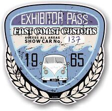 Rétro effet vieilli custom car show exposant pass 1965 vintage vinyl sticker decal