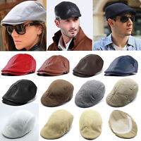 Mens Gatsby Newsboy Hat Baker Beret Casual Golf Driving Flat Cabbie Ivy Cap New