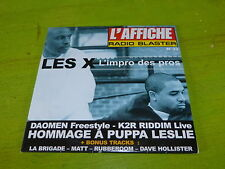LES X - K2R RIDDI% - LA BRIGADE - MATT !!!RAP OLD SCHOOL !!!!!!RARE CD!!!