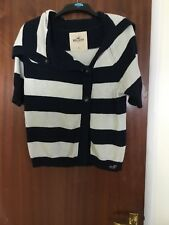 VGC Ladies Size 10-12 Stripey HOLLISTER Jumper L Womens/Girls Designer Top Large