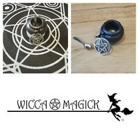 Wicca Magick Minature Cauldron Set, Spells, Witchcraft, Witch, Pagan, Occult