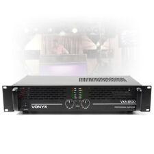 More details for dj pa 1200w max pro bridge power amplifier amp 2 channel 2 rack system