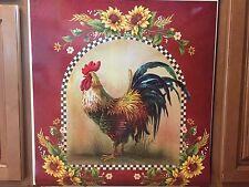 French Country Barn Rooster Dishwasher Magnet Cover Sunflower Farmhouse Magnet