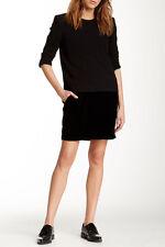 """The Kooples """"The Twofer"""" Black Dress With Velvet Skirt, Size XS, New!"""