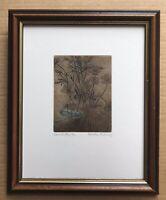 Original Irish Art Ltd Ed Etching Print Picture Of A Damselfly By Deirdre McCloy