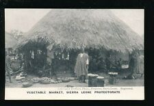 West Africa Sierra Leone Vegetable Market pre1919 PPC local pub Lisk-Carew Bros